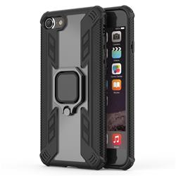 Predator Armor Metal Ring Grip Shockproof Dual Layer Rugged Hard Cover for iPhone 8 / 7 (4.7 inch) - Black