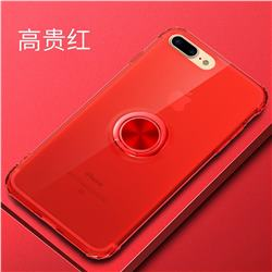 Anti-fall Invisible Press Bounce Ring Holder Phone Cover for iPhone 8 / 7 (4.7 inch) - Noble Red