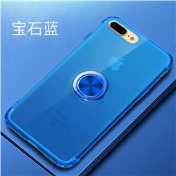Anti-fall Invisible Press Bounce Ring Holder Phone Cover for iPhone 8 / 7 (4.7 inch) - Sapphire Blue