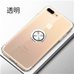 Anti-fall Invisible Press Bounce Ring Holder Phone Cover for iPhone 8 / 7 (4.7 inch) - Transparent