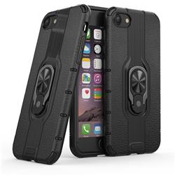 Alita Battle Angel Armor Metal Ring Grip Shockproof Dual Layer Rugged Hard Cover for iPhone 8 / 7 (4.7 inch) - Black