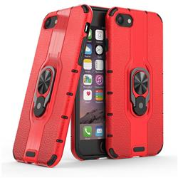 Alita Battle Angel Armor Metal Ring Grip Shockproof Dual Layer Rugged Hard Cover for iPhone 8 / 7 (4.7 inch) - Red
