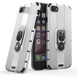 Alita Battle Angel Armor Metal Ring Grip Shockproof Dual Layer Rugged Hard Cover for iPhone 8 / 7 (4.7 inch) - Silver