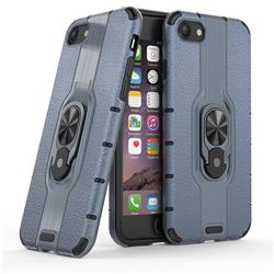 Alita Battle Angel Armor Metal Ring Grip Shockproof Dual Layer Rugged Hard Cover for iPhone 8 / 7 (4.7 inch) - Blue