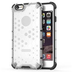 Honeycomb TPU + PC Hybrid Armor Shockproof Case Cover for iPhone 8 / 7 (4.7 inch) - Transparent