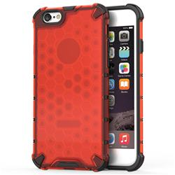 Honeycomb TPU + PC Hybrid Armor Shockproof Case Cover for iPhone 8 / 7 (4.7 inch) - Red