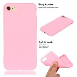 Soft Matte Silicone Phone Cover for iPhone 8 / 7 (4.7 inch) - Rose Red