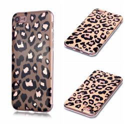 Leopard Galvanized Rose Gold Marble Phone Back Cover for iPhone 8 / 7 (4.7 inch)