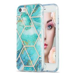 Blue Sea Marble Pattern Galvanized Electroplating Protective Case Cover for iPhone 8 / 7 (4.7 inch)