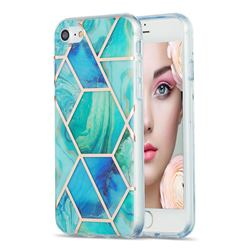 Green Glacier Marble Pattern Galvanized Electroplating Protective Case Cover for iPhone 8 / 7 (4.7 inch)