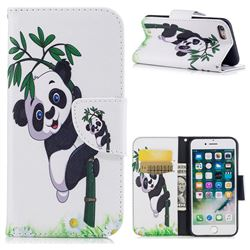 Bamboo Panda Leather Wallet Case for iPhone 8 / 7 8G 7G(4.7 inch)