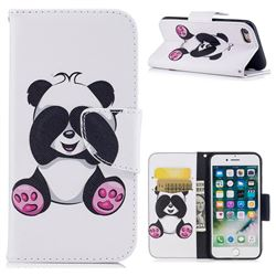 Lovely Panda Leather Wallet Case for iPhone 8 / 7 8G 7G(4.7 inch)