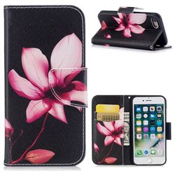 Lotus Flower Leather Wallet Case for iPhone 8 / 7 8G 7G(4.7 inch)