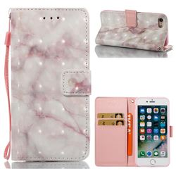 Beige Marble 3D Painted Leather Wallet Case for iPhone 8 / 7 8G 7G(4.7 inch)