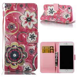 Tulip Flower 3D Painted Leather Wallet Case for iPhone 8 / 7 8G 7G(4.7 inch)