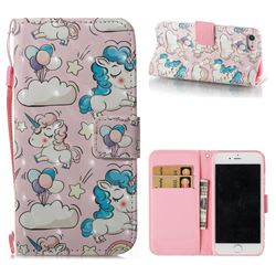 Angel Pony 3D Painted Leather Wallet Case for iPhone 8 / 7 (4.7 inch)