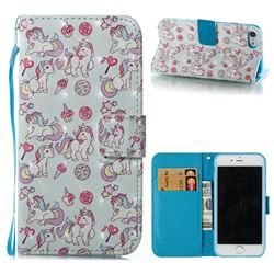 Playing Pony 3D Painted Leather Wallet Case for iPhone 8 / 7 (4.7 inch)