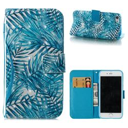 Banana Leaves 3D Painted Leather Wallet Case for iPhone 8 / 7 (4.7 inch)