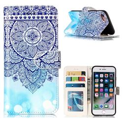 Totem Flower 3D Relief Oil PU Leather Wallet Case for iPhone 8 / 7 (4.7 inch)