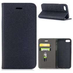 Tree Bark Pattern Automatic suction Leather Wallet Case for iPhone 8 / 7 (4.7 inch) - Black