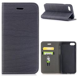 Tree Bark Pattern Automatic suction Leather Wallet Case for iPhone 8 / 7 (4.7 inch) - Gray