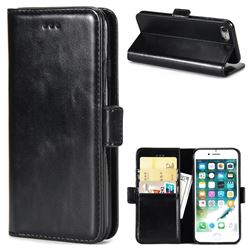 Luxury Crazy Horse PU Leather Wallet Case for iPhone 8 / 7 (4.7 inch) - Black