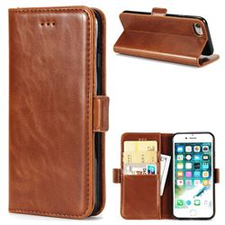 Luxury Crazy Horse PU Leather Wallet Case for iPhone 8 / 7 (4.7 inch) - Brown
