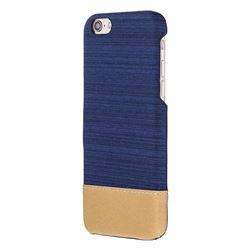 Canvas Cloth Coated Plastic Back Cover for iPhone 8 / 7 (4.7 inch) - Dark Blue