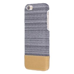 Canvas Cloth Coated Plastic Back Cover for iPhone 8 / 7 (4.7 inch) - Light Grey