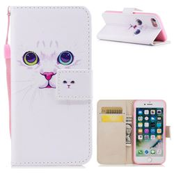 White Cat PU Leather Wallet Case for iPhone 8 / 7 (4.7 inch)