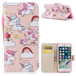 Rainbow Unicorn PU Leather Wallet Case for iPhone 8 / 7 (4.7 inch)
