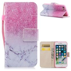 Marble Powder PU Leather Wallet Case for iPhone 8 / 7 (4.7 inch)