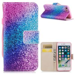Rainbow Sand PU Leather Wallet Case for iPhone 8 / 7 (4.7 inch)