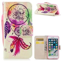 Feather Wind Chimes PU Leather Wallet Case for iPhone 8 / 7 (4.7 inch)