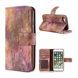 Luxury Retro Forest Series Leather Wallet Case for iPhone 8 / 7 (4.7 inch) - Purple