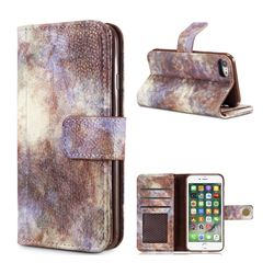 Luxury Retro Forest Series Leather Wallet Case for iPhone 8 / 7 (4.7 inch) - White
