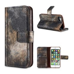 Luxury Retro Forest Series Leather Wallet Case for iPhone 8 / 7 (4.7 inch) - Grey
