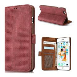 Luxury Vintage Mesh Monternet Leather Wallet Case for iPhone 8 / 7 (4.7 inch) - Rose