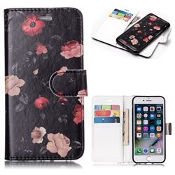 Safflower Detachable Smooth PU Leather Wallet Case