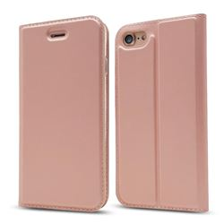 Ultra Slim Card Magnetic Automatic Suction Leather Wallet Case for iPhone 8 / 7 (4.7 inch) - Rose Gold