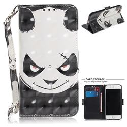 Angry Bear 3D Painted Leather Wallet Phone Case for iPhone 8 / 7 (4.7 inch)