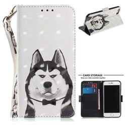 Husky Dog 3D Painted Leather Wallet Phone Case for iPhone 8 / 7 (4.7 inch)