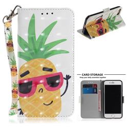 Pineapple Glasses 3D Painted Leather Wallet Phone Case for iPhone 8 / 7 (4.7 inch)