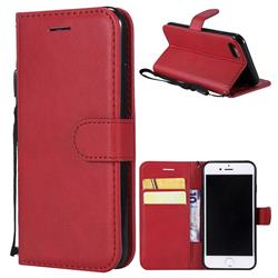 Retro Greek Classic Smooth PU Leather Wallet Phone Case for iPhone 8 / 7 (4.7 inch) - Red