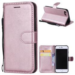 Retro Greek Classic Smooth PU Leather Wallet Phone Case for iPhone 8 / 7 (4.7 inch) - Rose Gold