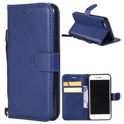 Retro Greek Classic Smooth PU Leather Wallet Phone Case for iPhone 8 / 7 (4.7 inch) - Blue