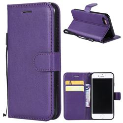 Retro Greek Classic Smooth PU Leather Wallet Phone Case for iPhone 8 / 7 (4.7 inch) - Purple