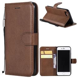 Retro Greek Classic Smooth PU Leather Wallet Phone Case for iPhone 8 / 7 (4.7 inch) - Brown