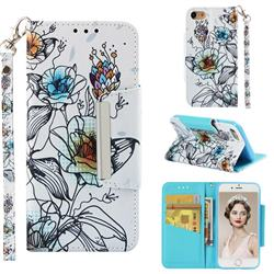 Fotus Flower Big Metal Buckle PU Leather Wallet Phone Case for iPhone 8 / 7 (4.7 inch)