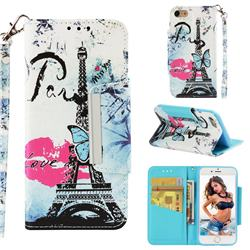 Lip Tower Big Metal Buckle PU Leather Wallet Phone Case for iPhone 8 / 7 (4.7 inch)